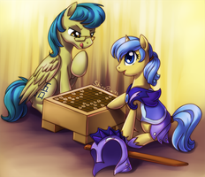 Friendly game of shogi (commission) by donoguad