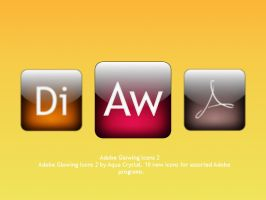 Glowing Adobe Icons 2 by Pixellover