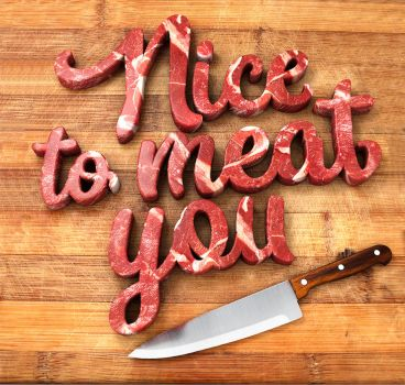 Meat lettering by Flatau