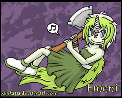 Emeni the Tea-cup Wyrm [Humanised] by Xantaria