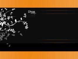 Black and orange template by dhas