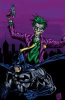 Batman_Joker colored by obviousproductions