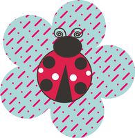 ladybug and flower by lucicouto