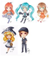 Copic Chibi Compilation by haneiy