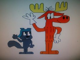 Rocky and Bullwinkle by SmashGamer16