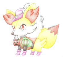 The Fencing Fennekin by icekitty101