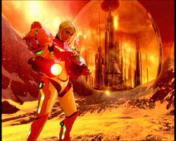 Samus Aran on Gallifrey by kavinveldar