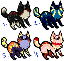 Adoptable Cats 1 - Insanity - {CLOSED} by MaliciousMysteries