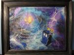 Tardis in the Time Vortex by DeadHeartMare