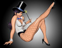 Zatanna_by_J_WRIG Color by knighted-feline