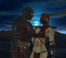 Ermac and Skarlet by dim1988