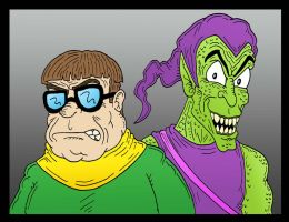 Dr. Octopus and Green Goblin by Lordwormm