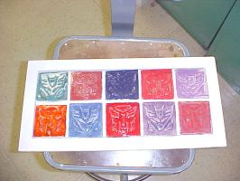 Transformers Clay Tiles by AutobotWonko