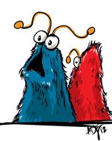 yip yip sesame st aliens by ADE-doodles