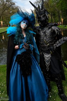 The black knight and the blue lady by Atreyasdream