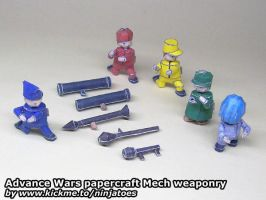 Advance Wars papercraft Mech unit weapons by ninjatoespapercraft