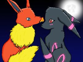 Flareon and Umbreon by Hinami