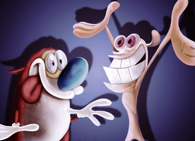 Ren and Stimpy WIP by leoslim
