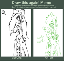 Wacka weasel (before and after) by 200shadowfan