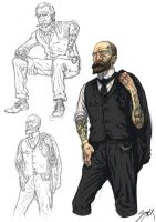 Tattoed gentlemen by MikkelSommer