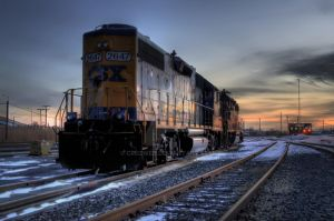 CSX Sunset by Cruzweb
