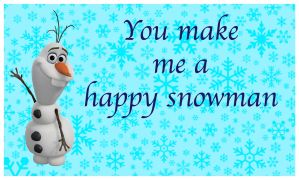 Frozen Valentine- Olaf #2 by HelloKeegs