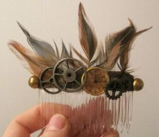 Steampunk Haircomb by LRMHamilton