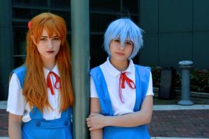everything has changed : evangelion asuka and rei by Iris-Iridescence