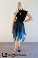 Blue and Grey Faerie Skirt by DaisyViktoria