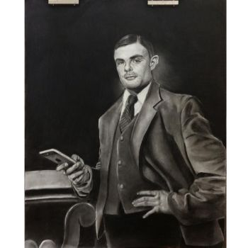 Portrait of Alan Turing by Mentallycool