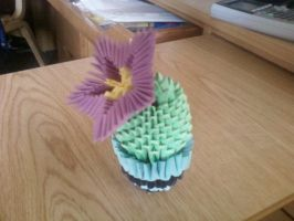 3D origami Cactus by SeemsGood