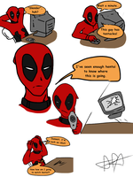 Deadpool VS Slenderman (600+ downloads!?!?) by CrypticGrin