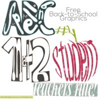 Back to School Graphics and Clip Art by SunnyFunLane