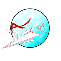 Stick With A Paperplane Logo by techno936