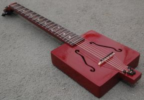 Cigar Box Guitar finished 3 by Ajs355f1