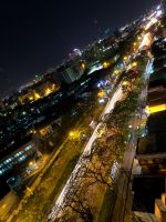 HCM City street at Night -1- by apocalic