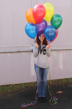 Ali and Balloons 01 by COI-stock