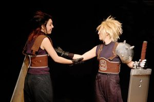 Zack and Cloud by mistlelcon