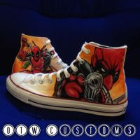 Deadpool Custom Converse by VeryBadThing