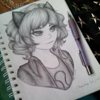 School Doodle: Nepeta by shadow-soul1