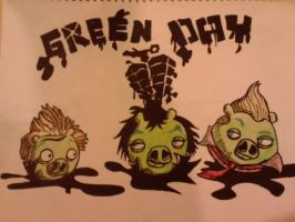 green day angry birds by Art-Josh