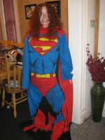 Bethany (bethanyfrye) in the Superman Snuggie by paulafrye