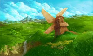 windmill by scorpy-roy