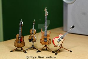 Part of my miniature guitar collection by Kelthes