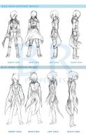 OC costume elevation XD by DaRkBluEe