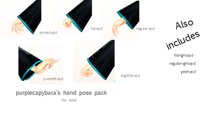 Hand poses + DL! (MMD) by purplecapybara