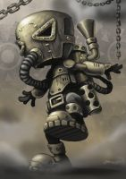 Steampunk Character WIP 4 by craig-bruyn