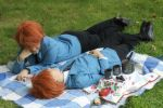 Twins in the park by Lyzbeth66