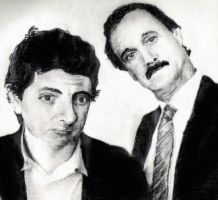 John Cleese and Mr. Bean by TheWitchKing989