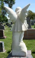 Mount Olivet Cemetery Angel 193 by Falln-Stock